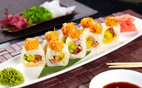 Picture food, plate, rolls