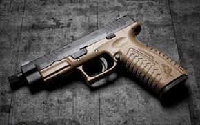 Picture gun, background, beige color