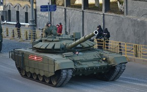 Picture MBT, T-72 B3, tank of the Russian armed forces, rehearsal of the Victory Parade