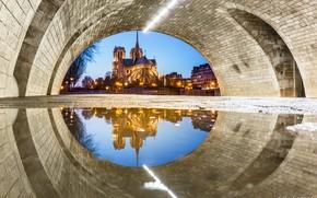 Picture France, Paris, Notre Dame de Paris, an unusual perspective