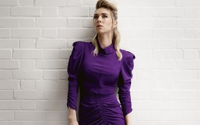 Picture look, pose, figure, actress, Vanessa Kirby, Vanessa Kirby, background wall
