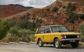 Picture mountains, vegetation, Land Rover, Range Rover, 1970, settlement, 4x4, SUV