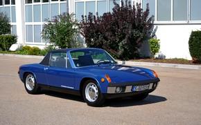 Picture blue, Porsche, Volkswagen, Targa, 914, VW-Porsche, coupe-Roadster, (1969―1976)
