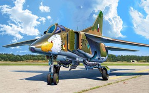 Picture USSR, fighter-bomber, multi-role fighter, Michal Reinis, Czechoslovakia, MiG-23BN