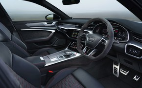 Picture Audi, interior, universal, RS 6, 2020, 2019, V8 Twin-Turbo, RS6 Avant, UK-version