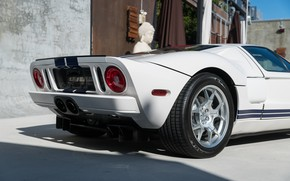 Picture White, Wheel, Lights, Back, Sports car, 2005 Ford GT