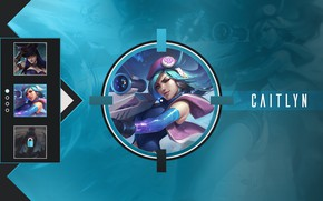 Picture girl, background, Caitlyn, League Of Legends