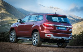 Picture clouds, mountains, Ford, Everest, Limited, 4WD, 2015