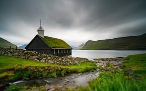 Wallpaper Church, Faroe Islands, Faroe Islands