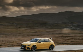 Picture Mercedes-Benz, speed, hatchback, UK-spec, 2020, 4MATIC+, A45 S, Aerodynamic Package, THE