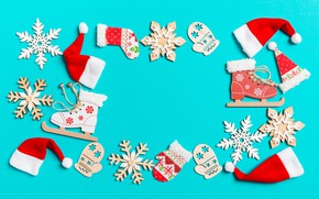 Picture snowflakes, background, holiday, blue, new year
