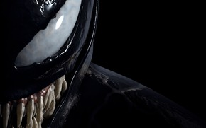 Picture eyes, black background, Venom, Venom, symbiote