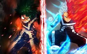 Picture My hero Academy, My Hero Academia, Boku No Hero Academy, Midori Isuku, Todoroki Shoto