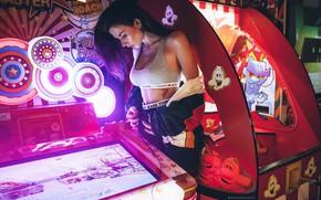 Picture girl, figure, tattoo, slot machines, Inga Lis, Rome Rome