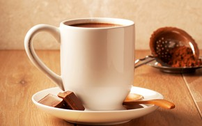 Picture coffee, chocolate, Cup