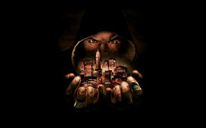Picture eyes, the city, hands, hood, Def Jam: Fight for NY