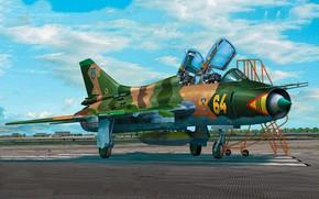 Picture art, airplane, aviation, su-17