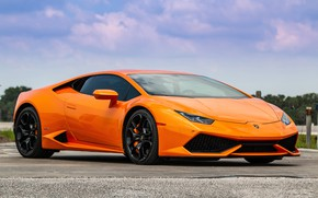 Picture Lamborghini, Orange, Huracan, Porter 34