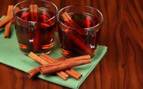 Picture tea, drink, cinnamon