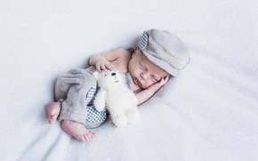 Picture toy, boy, bear, sleeping, baby, baby
