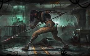 Picture Fantasy, Fighter, Art, Art, Fiction, Cyborg, Illustration, Science Fiction, Massacre, Roman Tishenin, by Roman Tishenin