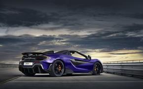 Picture overcast, McLaren, supercar, Spider, 2019, 600LT, Lantana Purple