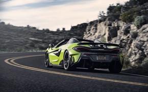 Picture McLaren, supercar, Spider, 2019, 600LT, Lime Green