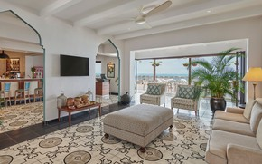 Picture Villa, interior, kitchen, terrace, living room, Beach House