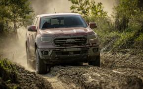 Picture Ford, dust, track, pickup, Ranger, Lariat, Tremor, 2021, подсыхающая налипшая грязь