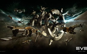 Picture nebula, planet, station, Space, space, spaceship, eve online, space ship, coooper