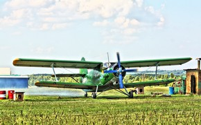 Picture Biplane, Anna, Airplane, The airfield, The plane, Biplane, An-2, Maize, Airfield, An-2, Annushka, Spotting, your ...