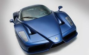 Picture Ferrari Enzo, Blue, Supercar