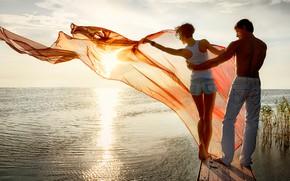 Picture girl, shorts, legs, photography, sea, woman, barefoot, short hair, man, boy, mood, sunrise, jeans, plants, …