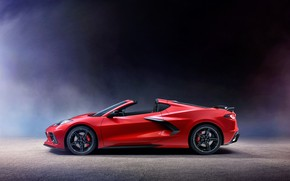 Picture Corvette, Chevrolet, side view, Stingray, 2020, C8