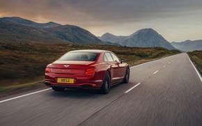 Picture Bentley, on the road, Flying Spur, 2020, V8, 2021, Flying Spur V8