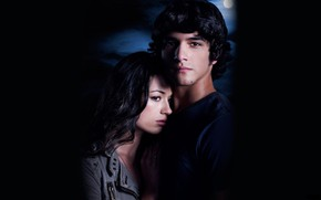 Picture the moon, pair, the series, two, characters, Teen wolf, The cub