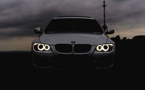 Picture auto, BMW, E90, headlights, cloud