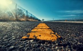Picture road, the sky, asphalt