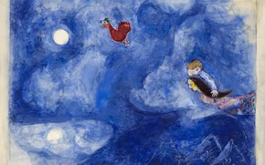 Picture Marc Chagall, Marc Chagall, MARC CHAGALL, decor for Aleko, Aleko, Aleko and Zemphira by Moonlight, …