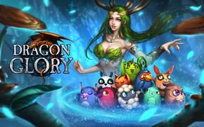 Picture the game, fantasy, art, pet, Dragon Glory, Rena Illusion, Loading screen for Dragon Glory RU