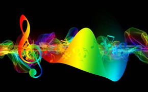 Picture BACKGROUND, BLACK, PAINT, NOTES, VIOLIN, KEY