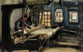 Picture Vincent van Gogh, Watercolors, weaver works, Weaver 4