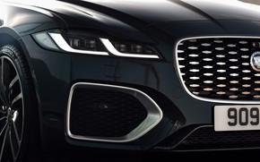 Picture Jaguar, headlight, before, grille, bumper, universal, Jaguar XF, 2020, XF, XF Sportbrake