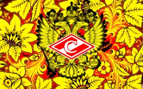 Picture Flowers, Red, Sport, Style, Logo, Football, Background, Emblem, Coat of arms, Russia, Painting, Art, Club, …