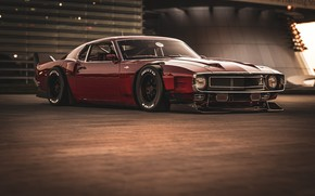 Picture Ford, Shelby, GT500, Red, Auto, Retro, Machine, 1969, Car, Car, Render, Muscle car, Retro, Cherry …