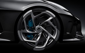Picture wheel, Bugatti, hypercar, 2019, The Black Car, Type 57 SC Atlantic, Bugatti La Voiture Noire