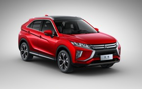 Picture Red, Japan, Mitsubishi, eclipse, Cross, 2019