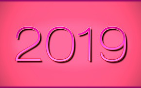 Picture background, pink, new year, figures