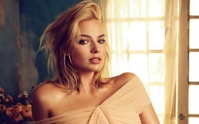 Picture look, girl, light, face, actress, Vogue, Margot Robbie