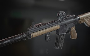 Picture rendering, weapons, rifle, weapon, render, custom, render, 3d art, ar-15, assault rifle, assault Rifle, ar-15, …